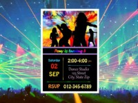 Colorful custom templates for inviting to dances>