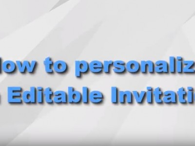 How to personalize editable template - Video