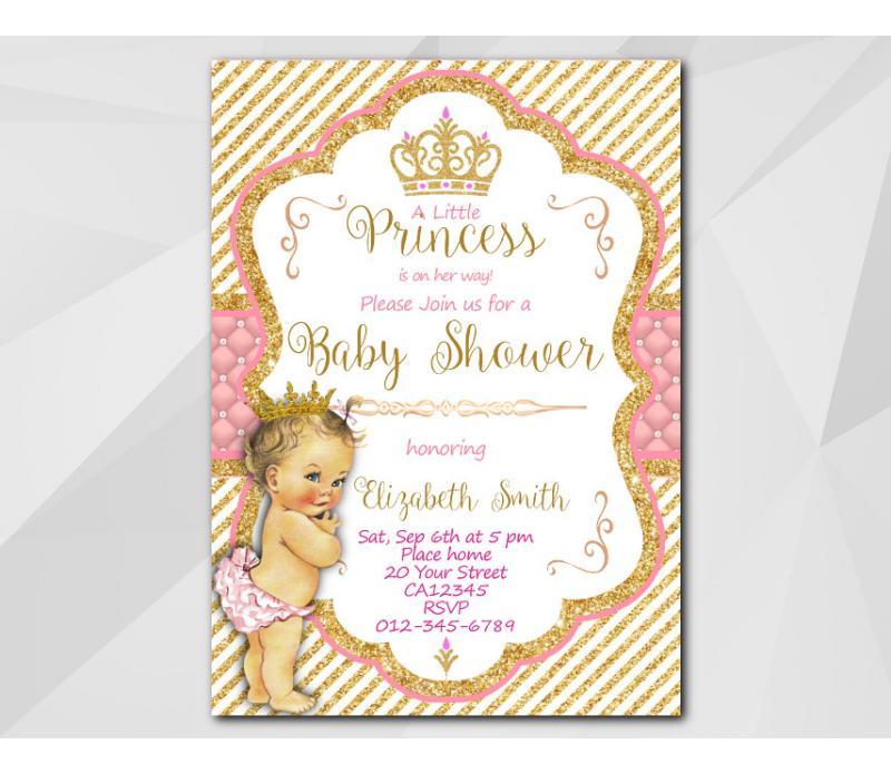 Baby Shower Little Princess Invitation Template