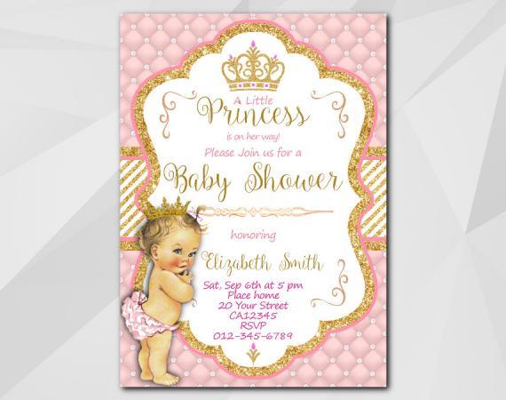 Little Princess Baby Shower Invitation Template