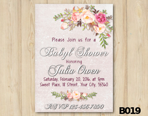 Watercolor Baby Shower Invitation | Personalized Digital Card