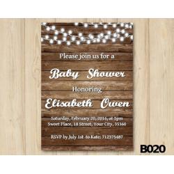 String Lights Baby Shower Invitation