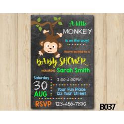 Monkey Baby Shower invitation