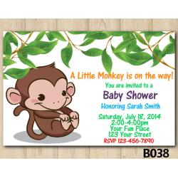 Monkey Baby Shower invitation