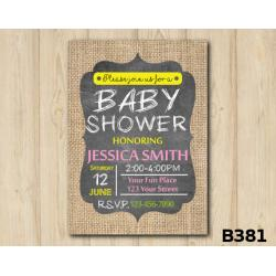 Baby Shower Burlap invitation