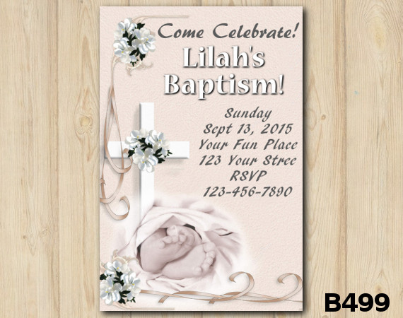 Baptism invitation | Personalized Digital Card