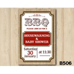 Baby Shower invitation BBQ