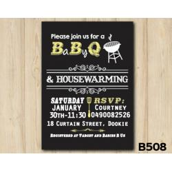 Baby Shower BBQ invitation