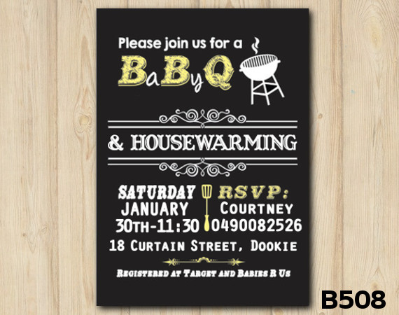Baby Shower BBQ invitation | Personalized Digital Card