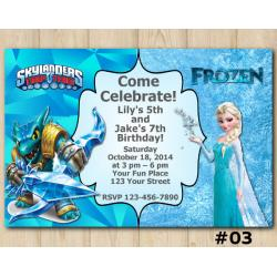 Twin Frozen and Skylanders Invitation | Snapshot