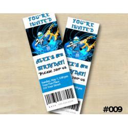 Ninjago Ticket Invitation