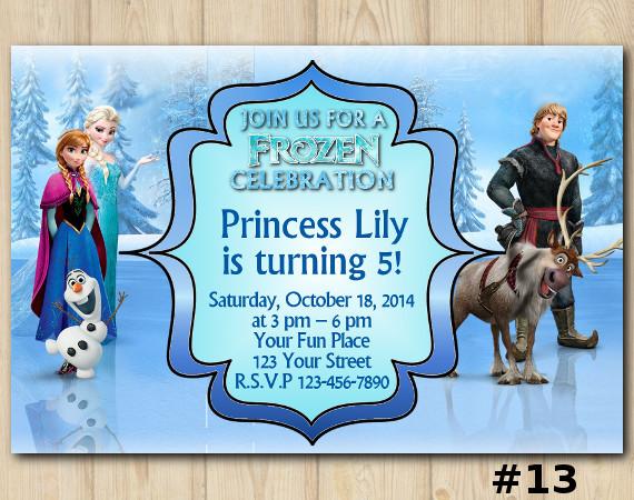 Frozen Invitation   Personalized Digital Card
