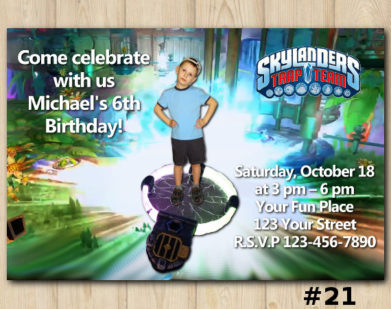 Skylanders Trap Team Invitation with Photo | Personalized Digital Card