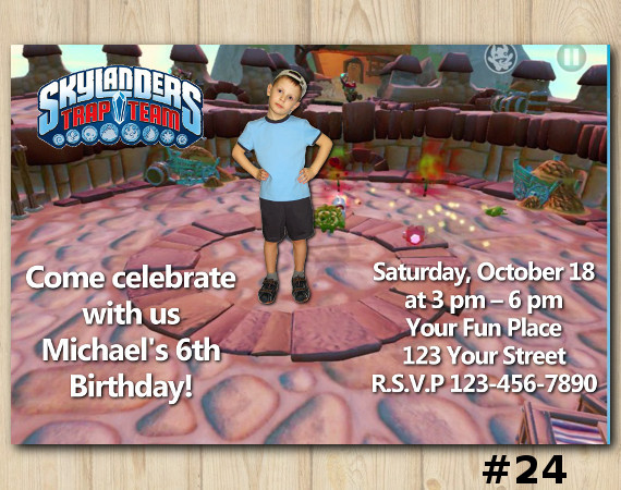 Skylanders Trap Team Invitation with Photo | Personalized Digital Card