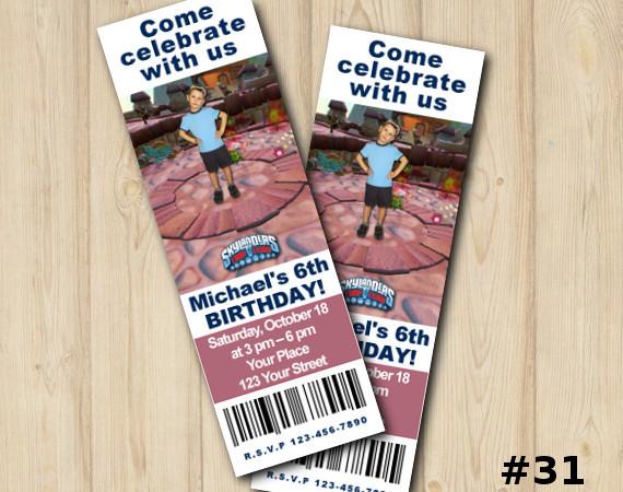 Skylanders Trap Team Ticket Invitation with Photo | Personalized Digital Card