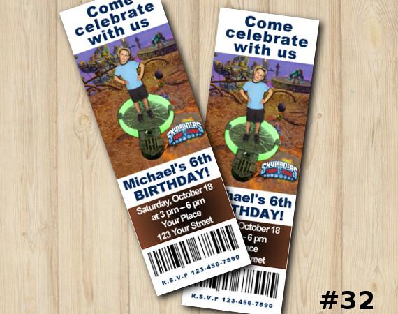 Printable Skylanders Trap Team Ticket Invitation with Photo | Personalized Digital Card