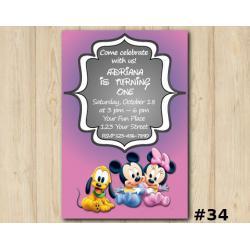 Minnie Mickey Mouse Invitation
