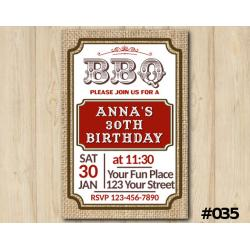 Adult BBQ Invitation