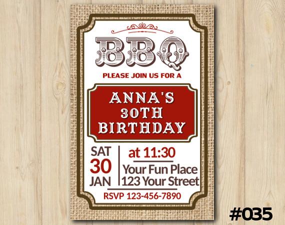 Adult BBQ Invitation | Personalized Digital Card