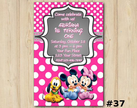 Minnie Mickey Mouse Invitation | Personalized Digital Card