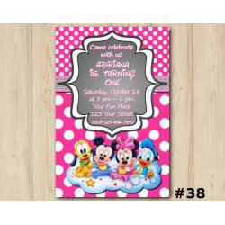 Minnie Mickey Mouse Invitation