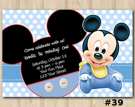 mickey mouse birthday invitation mickey mouse invitation template