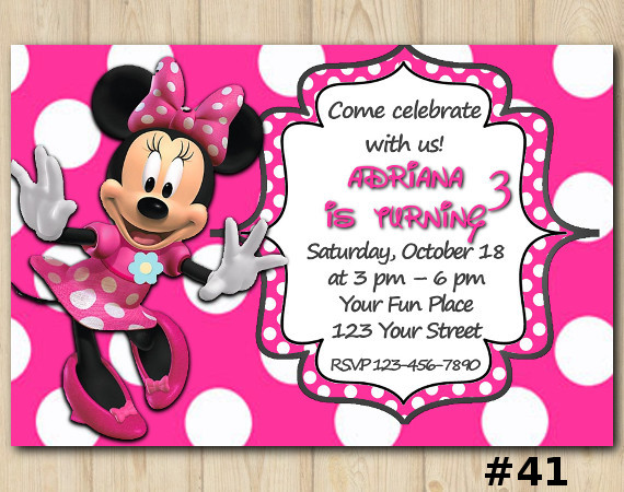 Minnie Mouse Invitation | Personalized Digital Card