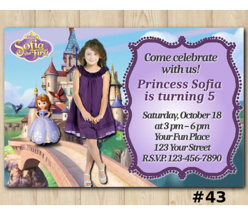Sofia The First Invitation With Photo