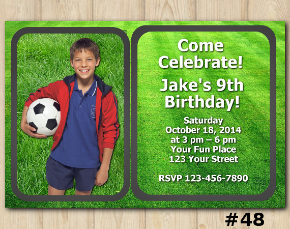 Football Invitation with Photo | Personalized Digital Card