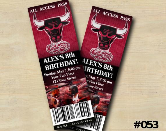 Chicago Bulls Ticket Invitation | Personalized Digital Card