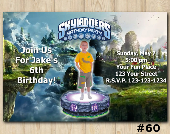 Skylanders Swap Force Invitation with Photo | Personalized Digital Card