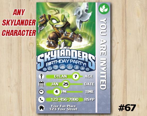Skylanders Swap Force Game Card Invitation | StinkBomp | Personalized Digital Card