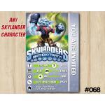 Skylanders Swap Force Game Card Invitation | NightSwap | Personalized Digital Card