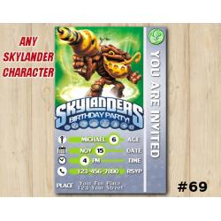 Skylanders Swap Force Game Card Invitation | BumbleBlast