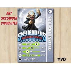 Skylanders Kaos Game Card Invitation | Kaos