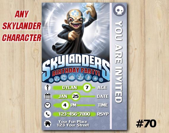 Skylanders Kaos Game Card Invitation | Kaos | Personalized Digital Card