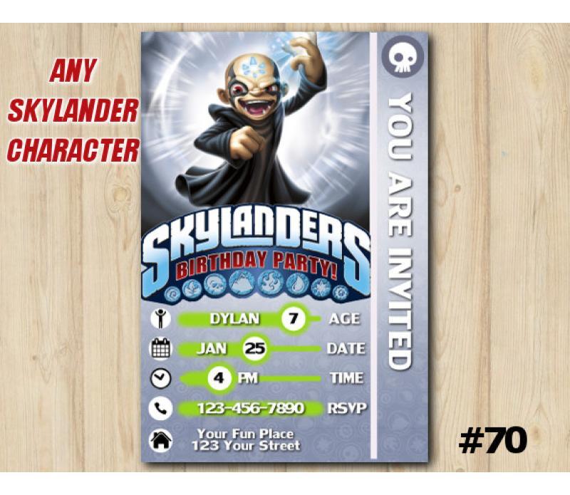 Skylanders Kaos Game Card Invitation