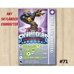 Skylanders Trap Team Game Card Invitation | CobraCadabra