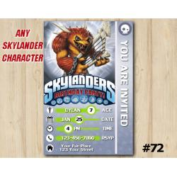 Skylanders Trap Team Game Card Invitation | Wolfgang