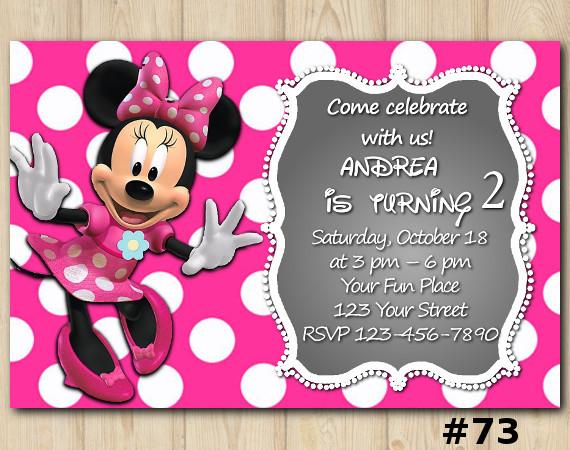 Minnie Mouse Invitation | Personalized Digital Card