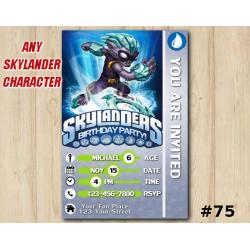 Skylanders Swap Force Game Card Invitation | FreezeBlade