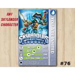 Skylanders Swap Force Game Card Invitation   WashBuckler   Personalized Digital Card