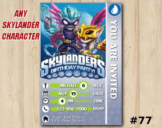 Skylanders Swap Force Game Card Invitation | FreezeBlade | Personalized Digital Card