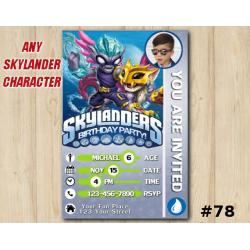 Skylanders Swap Force Game Card Invitation with Photo | FreezeBlade