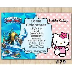 Twin Hello Kitty and Skylanders Invitation | Snapshot