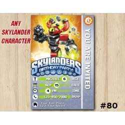 Skylanders Swap Force Game Card Invitation | MagnaCgarge