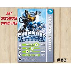 Skylanders Swap Force Game Card Invitation | JetVac