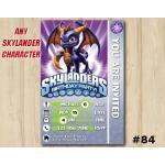 Skylanders Swap Force Game Card Invitation   Spyro   Personalized Digital Card