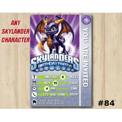 Skylanders Swap Force Game Card Invitation | Spyro