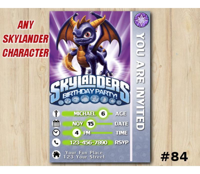 Skylanders Swap Force Game Card Invitation